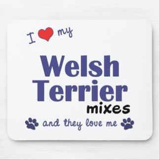 Amo mis mezclas de Terrier galés (los perros múlti Alfombrillas De Ratones