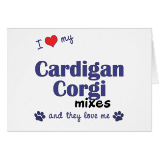 Amo mis mezclas del Corgi de la rebeca (los perros Tarjeta De Felicitación