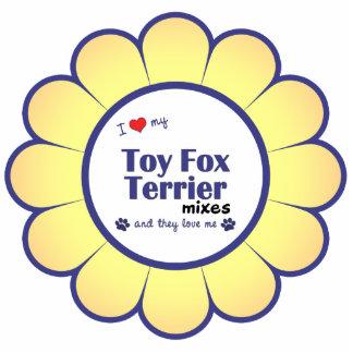 Amo mis mezclas del fox terrier del juguete (los p adorno fotoescultura