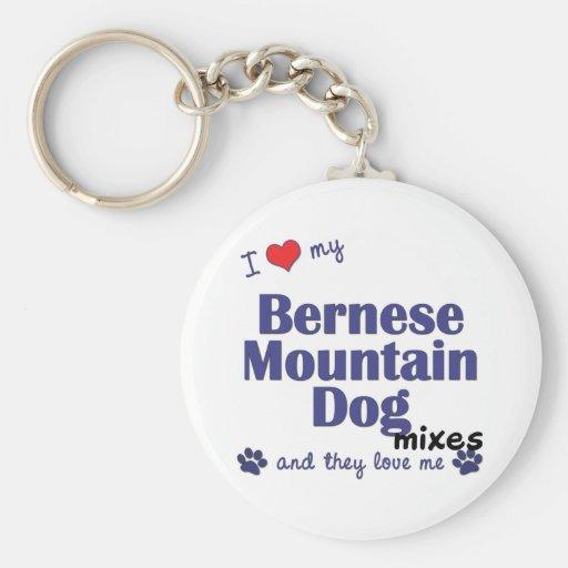 Amo mis mezclas del perro de montaña de Bernese (l Llaveros