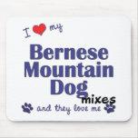 Amo mis mezclas del perro de montaña de Bernese (l Tapetes De Ratón