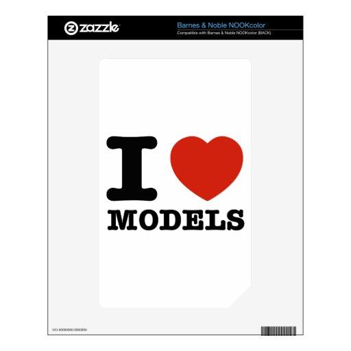Amo mis modelos calcomanías para NOOK color