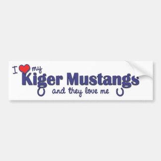 Amo mis mustangos de Kiger (los caballos múltiples Etiqueta De Parachoque