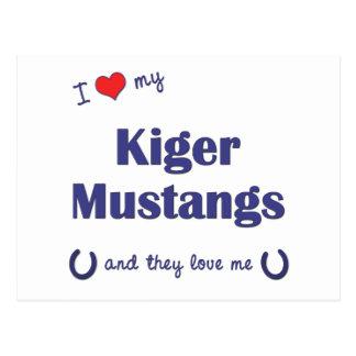 Amo mis mustangos de Kiger (los caballos Postal
