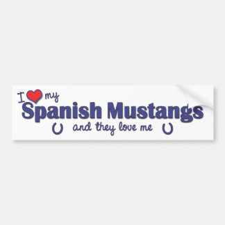 Amo mis mustangos españoles (los caballos múltiple pegatina de parachoque