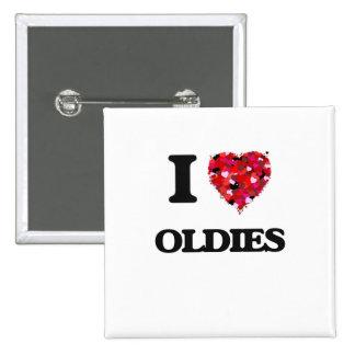 Amo mis OLDIES Pin Cuadrada 5 Cm