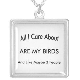 Amo mis pájaros colgante cuadrado