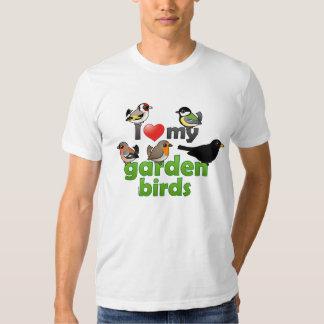 Amo mis pájaros del jardín playera