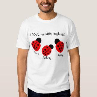 ¡AMO mis pequeñas mariquitas!  (personalice esto) Camisas