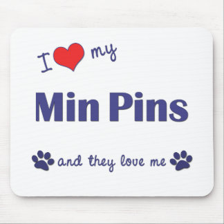 Amo mis pernos mínimos (los perros múltiples) tapetes de ratón