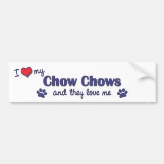 Amo mis perros chinos de perro chino (los perros m pegatina para auto