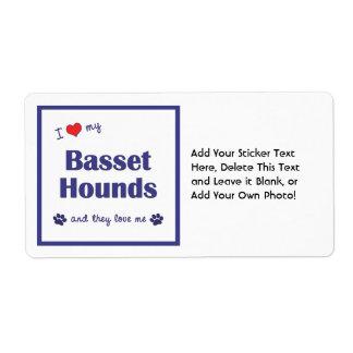 Amo mis perros de afloramiento (los perros etiquetas de envío