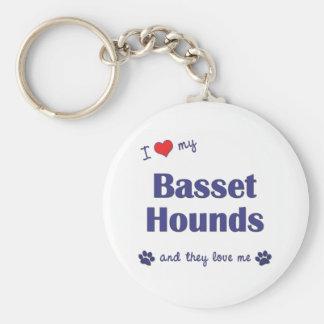 Amo mis perros de afloramiento (los perros múltipl llaveros personalizados