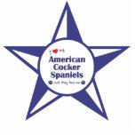 Amo mis perros de aguas de cocker americano (los p esculturas fotograficas