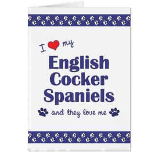 Amo mis perros de aguas de cocker ingleses (los pe tarjeta pequeña