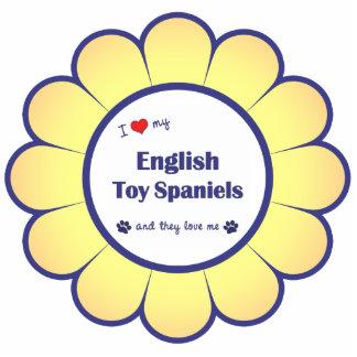 Amo mis perros de aguas de juguete inglés (los per adorno fotoescultura