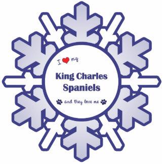 Amo mis perros de aguas de rey Charles los perros Esculturas Fotográficas