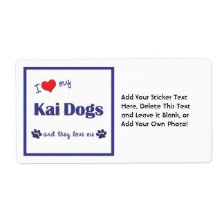 Amo mis perros de Kai (los perros múltiples) Etiquetas De Envío