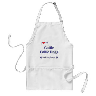 Amo mis perros del collie del ganado (los perros m delantal