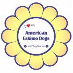 Amo mis perros esquimales americanos (los perros m esculturas fotográficas