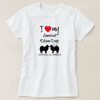Amo mis perros esquimales americanos remeras