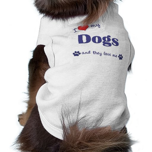 Amo mis perros (los perros múltiples) camisas de perritos