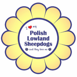 Amo mis perros pastor polacos de la tierra baja (l adorno fotoescultura