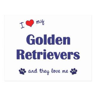 Amo mis perros perdigueros de oro (los perros postal