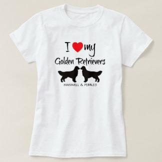 Amo mis perros perdigueros de oro remera