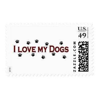 Amo mis perros sello postal