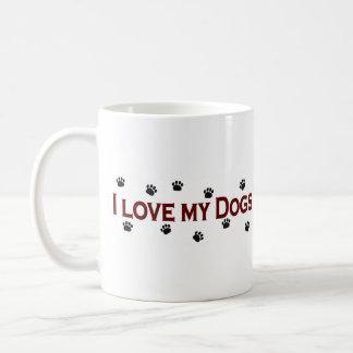 Amo mis perros tazas