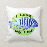 Amo mis pescados cojin
