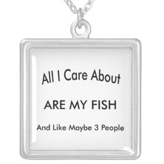 Amo mis pescados colgante cuadrado