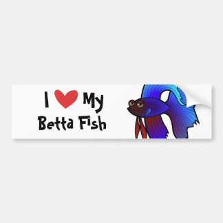 Amo mis pescados de Betta/pescados que luchan siam Pegatina Para Auto