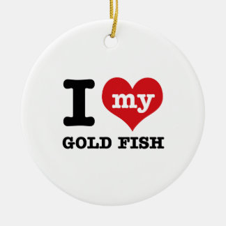 Amo mis pescados del oro adorno de navidad