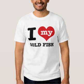 Amo mis pescados del oro remeras