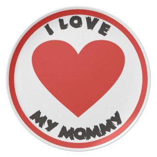 Amo mis placas lindas del amor de la mamá plato