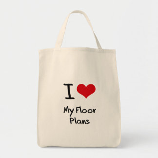 Amo mis planes de piso bolsa de mano