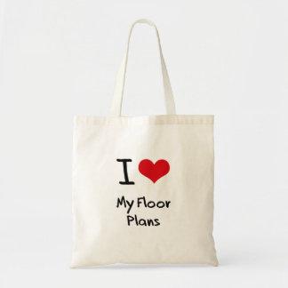 Amo mis planes de piso bolsas