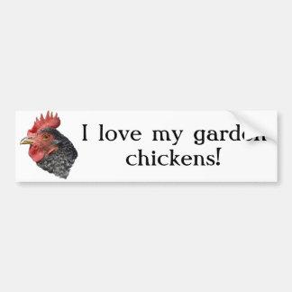 ¡Amo mis pollos del jardín! - Pegatina para el par Pegatina Para Auto