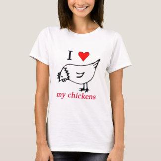 Amo mis pollos playera