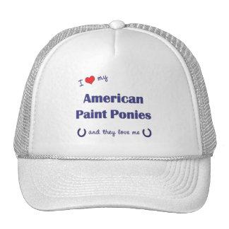 Amo mis potros americanos de la pintura (los potro gorros