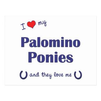 Amo mis potros del Palomino (los potros múltiples) Tarjetas Postales