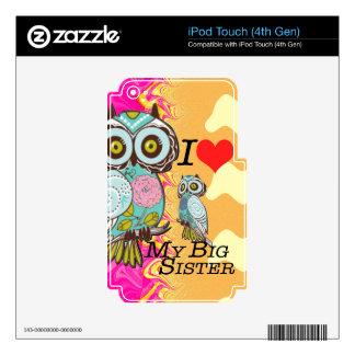 Amo mis productos multi del regalo de la hermana calcomanía para iPod touch 4G