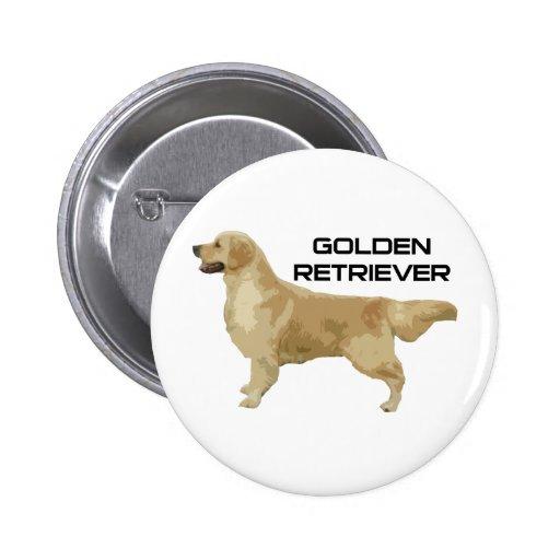 ¡Amo mis productos y diseños del golden retriever! Pin Redondo 5 Cm