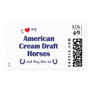 Amo mis proyectos poner crema americanos (los sellos