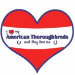 Amo mis pura sangre americanos (los caballos múlti esculturas fotográficas