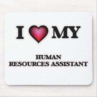 Amo mis recursos humanos auxiliares alfombrillas de ratón