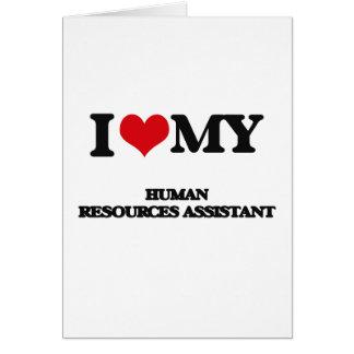 Amo mis recursos humanos auxiliares felicitacion