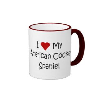Amo mis regalos americanos del amante del perro de taza